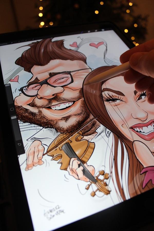 karykatury na rocznicę ślubu