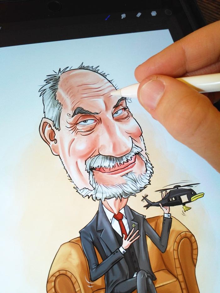 karykatury polityków