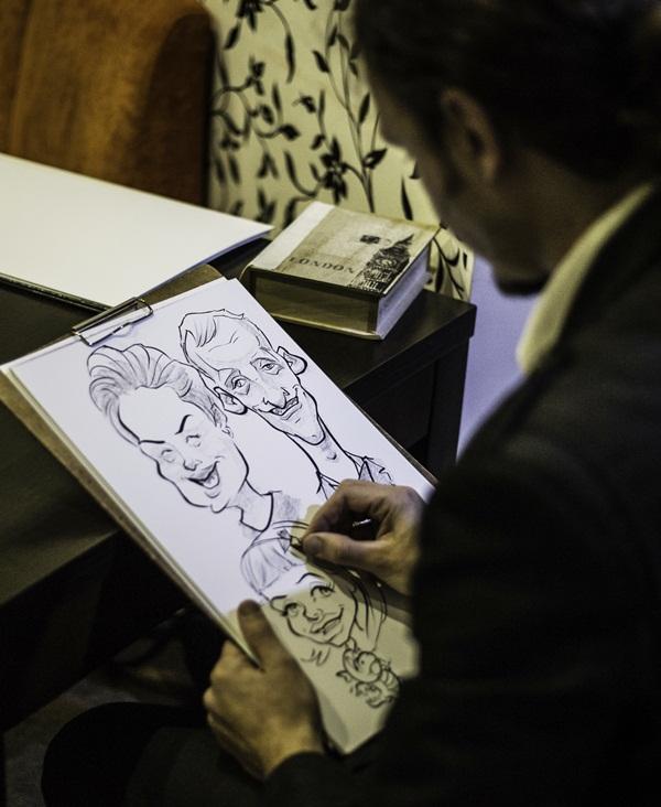 karykatury na żywo