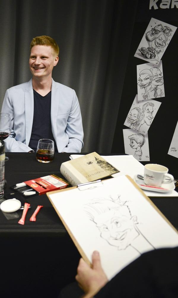karykaturzysta na eventy firmowe